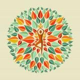 Mandala di yoga dell'India Fotografia Stock