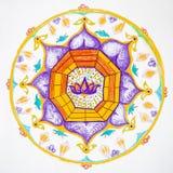 Mandala dibujada mano Foto de archivo