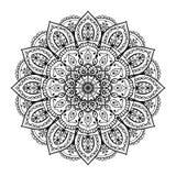 Mandala dibujada mano Imágenes de archivo libres de regalías