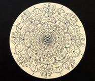 Mandala dibujada mano del amor Imagen de archivo libre de regalías