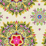 Mandala dibujada mano, elemento del diseño floral Fotos de archivo