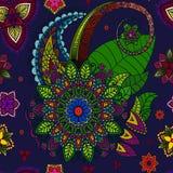 Mandala dibujada mano, elemento del diseño floral Imagenes de archivo
