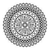 Mandala dibujada para ser pintado Imágenes de archivo libres de regalías