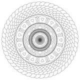 Mandala dibujada para ser pintado Imagen de archivo