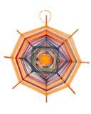 Mandala die met draden wordt geweven Stock Foto's