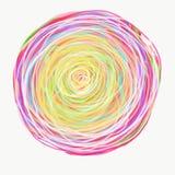 Mandala die met waterverf wordt geschilderd Royalty-vrije Stock Foto