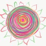Mandala die met waterverf wordt geschilderd Stock Foto's