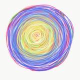 Mandala die met waterverf wordt geschilderd royalty-vrije stock fotografie