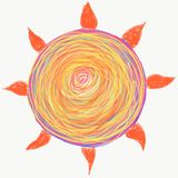 Mandala die met waterverf wordt geschilderd stock afbeelding