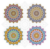 Mandala different color set Stock Photos