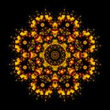 mandala digital light, isolated on black background Royalty Free Stock Photos