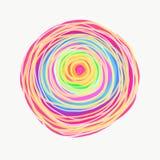 Mandala dipinta con l'acquerello Immagini Stock Libere da Diritti