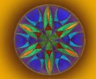 Mandala dipinta variopinta fotografia stock libera da diritti