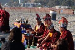 Mandala Dissolution Ceremony välsignelse Arkivbilder