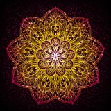 Mandala diwali present card design Stock Photography