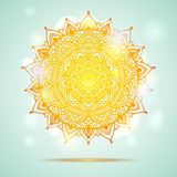 Mandala diwali present card design Royalty Free Stock Image