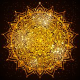 Mandala diwali present card design Royalty Free Stock Photos