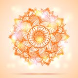 Mandala diwali present card design Royalty Free Stock Photography