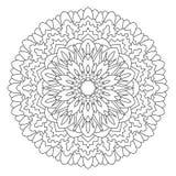 Mandala dla malować i barwić Zdjęcia Royalty Free