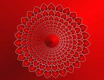 Mandala do coração Imagem de Stock