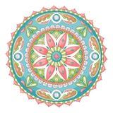 Mandala do Doodle ilustração stock
