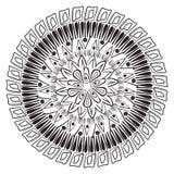 Mandala do esboço do vetor para o livro para colorir ilustração royalty free