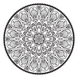 Mandala do indiano do vetor Fotos de Stock Royalty Free