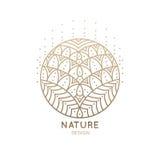 Mandala do logotipo ilustração stock
