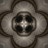 Mandala do marfim ilustração stock