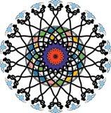 Mandala do mosaico da cor ilustração stock