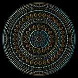Mandala do ouro Fotografia de Stock Royalty Free