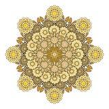 Mandala do ouro Imagens de Stock Royalty Free