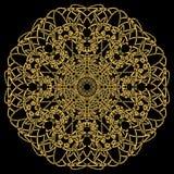 Mandala do ouro Fotos de Stock Royalty Free