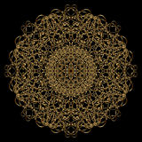 Mandala do ouro Fotos de Stock