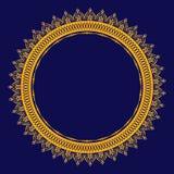 Mandala do ouro para a hena, Mehndi, cartão, decoração Teste padr?o de Curcular ilustração do vetor