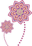 Mandala do teste padrão de flor ilustração royalty free