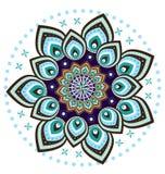 Mandala do teste padrão de flor Foto de Stock