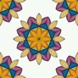 Mandala do vetor Beira decorativa floral abstrata Laço p Imagens de Stock Royalty Free