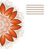 Mandala do vetor Beira decorativa floral abstrata Laço p Imagem de Stock Royalty Free