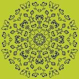 Mandala do vetor Beira decorativa floral do vetor abstrato Laço p Imagens de Stock