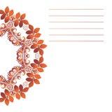 Mandala do vetor Beira decorativa floral do vetor abstrato Laço p Imagem de Stock Royalty Free