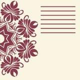 Mandala do vetor Beira decorativa floral do vetor abstrato Laço p Foto de Stock