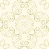 Mandala do vetor Beira decorativa floral do vetor abstrato Laço p Fotos de Stock