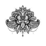Mandala do vetor para o livro para colorir Fotografia de Stock Royalty Free