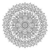 Mandala do vintage Teste padrão tribal do ornamento redondo do vetor ilustração royalty free