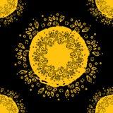 Mandala. doodle leaves, floral pattern. Circled element for design. Flower Vector illustration. Seamless Pattern Abstract Ethnic royalty free illustration