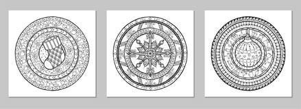 Mandala doodle Wektorowy tatuaż Doskonalić element dla projekta, urodziny i innego wakacje wcale typ, kalejdoskop, medalion, obraz stock