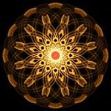 Mandala dorata di frattale royalty illustrazione gratis