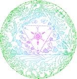 Mandala dos elementos Fotografia de Stock