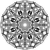 Mandala dos gurupés da sereia fotografia de stock